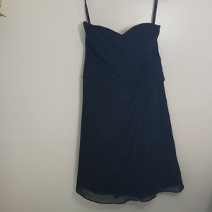 Black prom formal bridesmaid dress short